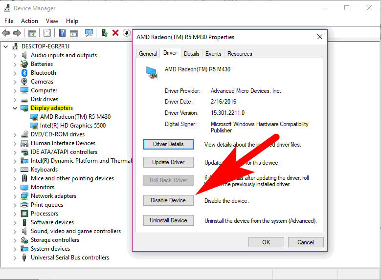 graphics card not working in windows 10