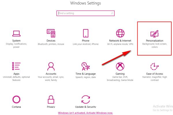 Windows Personalization