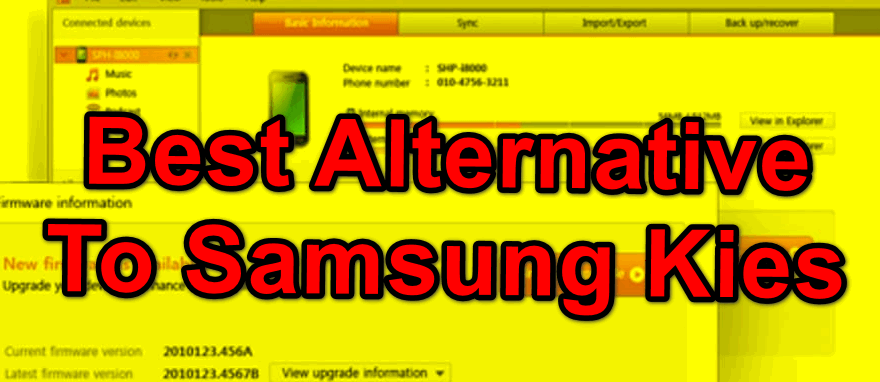 8 Most Used Alternative To Samsung Kies for Mac