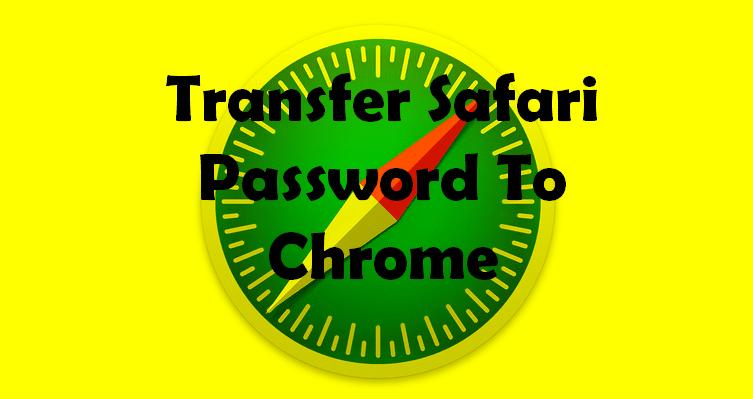 import safari password