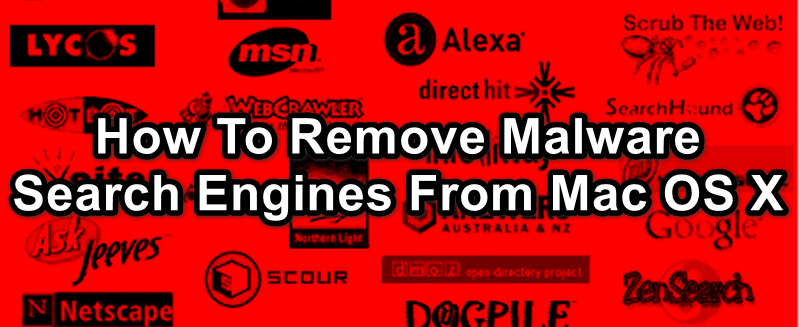 remove malware search engine from Mac