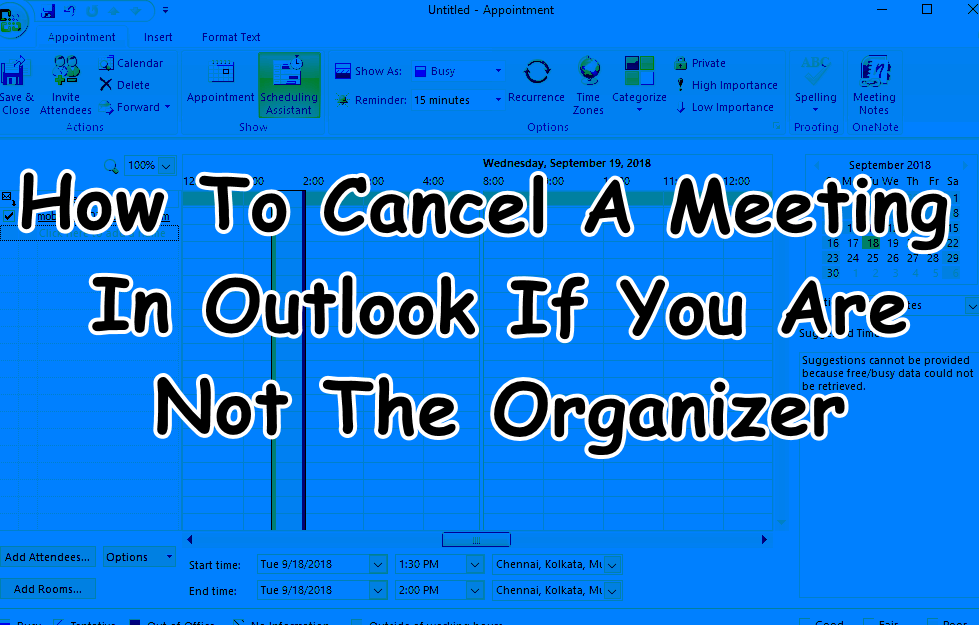 How To Cancel A Meeting In Outlook If You Are Not The Organizer