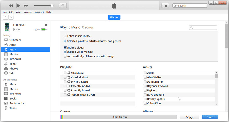 iTune Sync Music iPhone to Mac