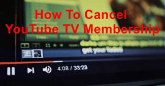 cancel youtube tv membership