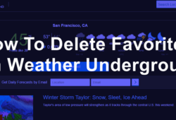 How To Delete Favorites on Weather Underground