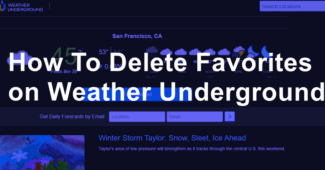 How To Delete Favorites on Weather Underground