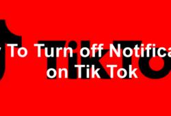 Disable Notifications on Tik Tok