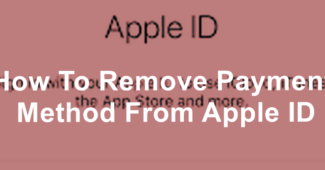 Remove Payment Method From Apple ID